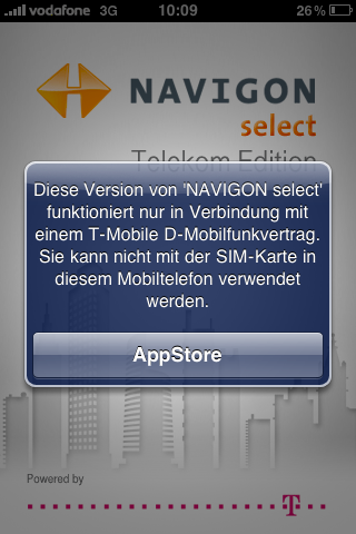 NAVIGON select (Telekom Edition) ScreenShot