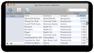 Screenshot App Store Expense Monitor